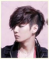 model rambut pria korea