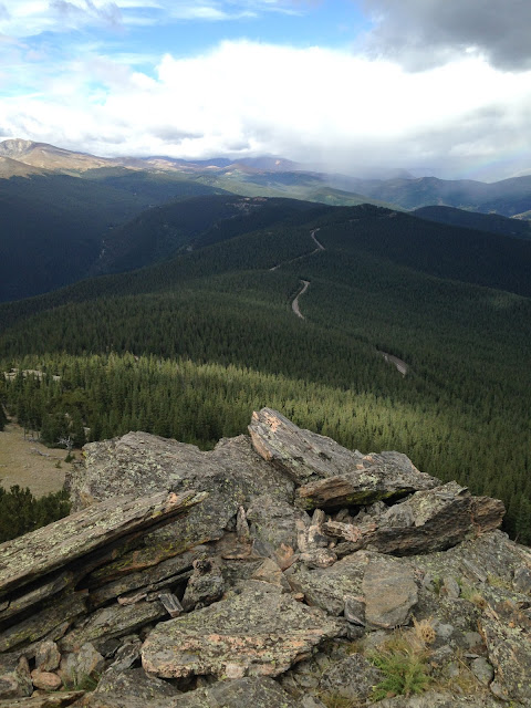 Mt. Evans in the distance