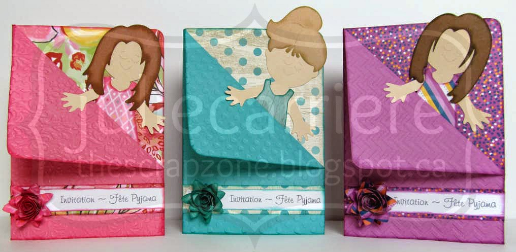 The Scrap Zone: Paper Doll Slumber Party Invitations