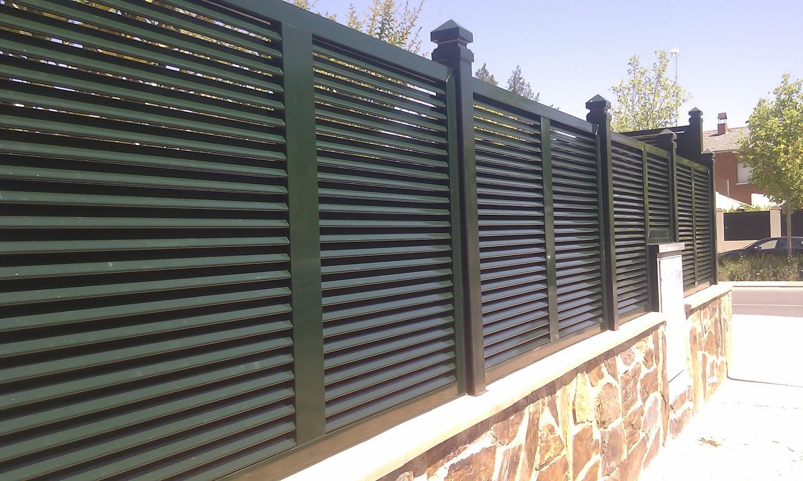 Aluminio y pvc en aranjuez y alrededores alumifrank - Vallas jardin pvc ...