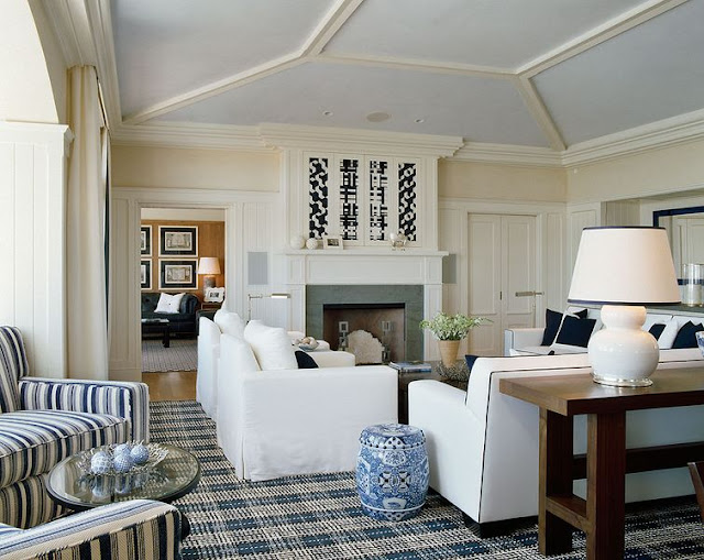 Love How The Plaid Rug Anchors The Room Here, Sherill Canet