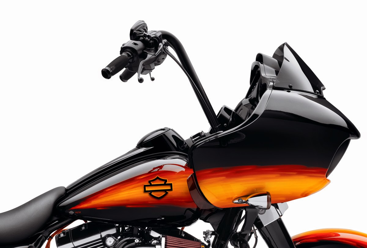 New h d road glide fat ape and tall boy handlebars