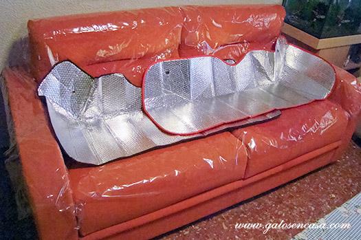Proteger sof s camas y m s muebles del pipi de gato - Fundas para sofas con cheslong ...