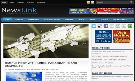 NewsLink Blogger Template