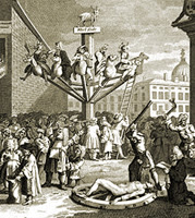 """Detail, """"An Emblematical Print of the South Sea Scene,"""" William Hogarth, 1721"""