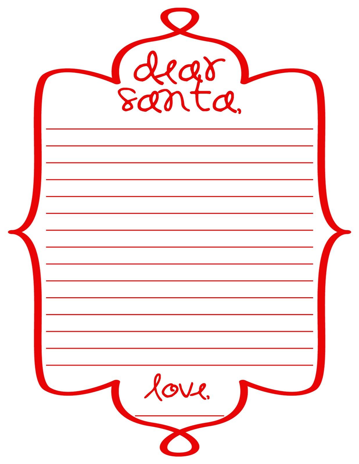 santa wish list template – Santa Wish List for Kids