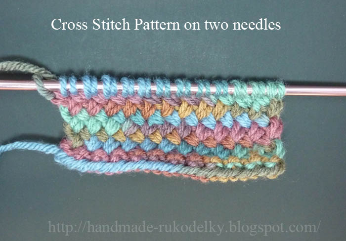 How To Knit Stitch On Circular Needles : HAND MADE - RUKODELKY: Cross Stitch Knitted On Circular Needles Versus Knitte...
