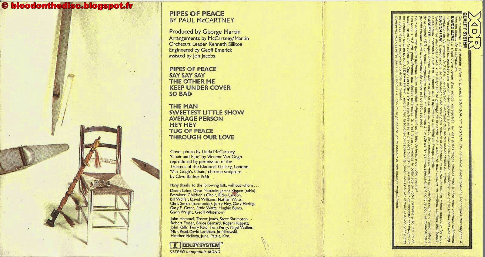 Pipes Of Peace Back Cover