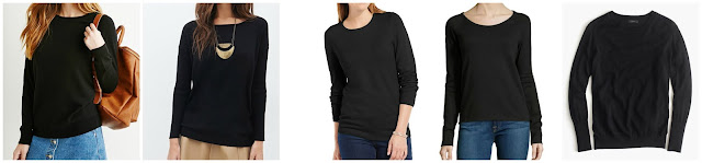 Forever 21 Classic Raglan Sweater $12.90  Forever 21 Ribbed Knit Sweater $17.80  JM Collection Solid Button Sleeve Sweater $34.99 (regular $49.50)  James Perse Fleece Raglan Sleeve Pullover $35.50 (regular $89.00)  J. Crew Relaxed Merino Wool Pullover Sweater $69.99 (regular $89.50) also at J. Crew Factory