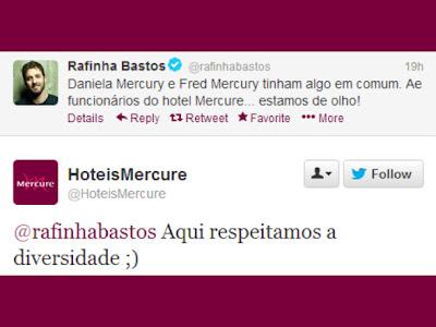 rafinha bastos hotel mercure twitter