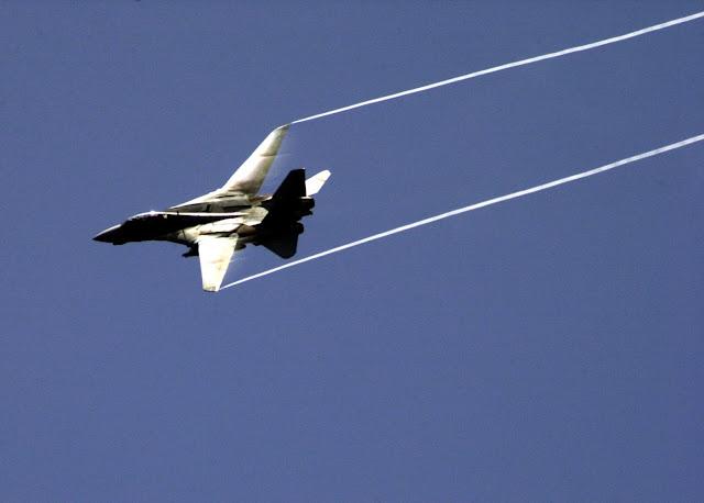 F-14D Tomcat pulls out of a dive.