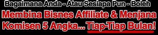 Tips menjana income online menerusi affiliate