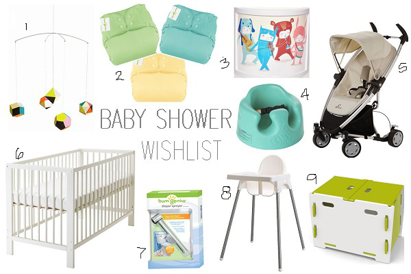 baby shower wishlist