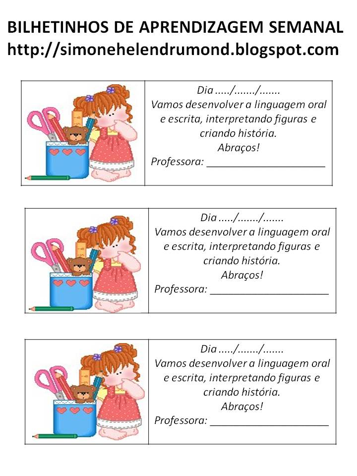 Simone Helen Drumond Recadinhos Para Agenda Escolar 3