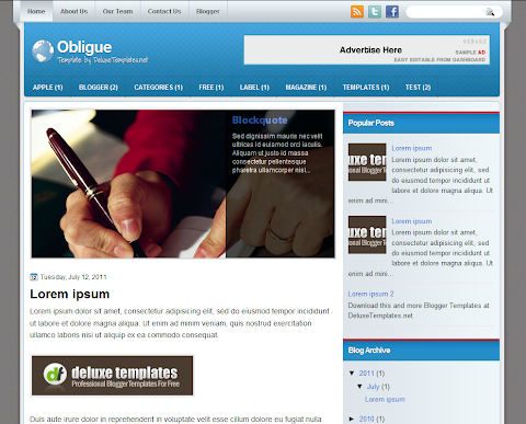 Obligue Blogger Theme