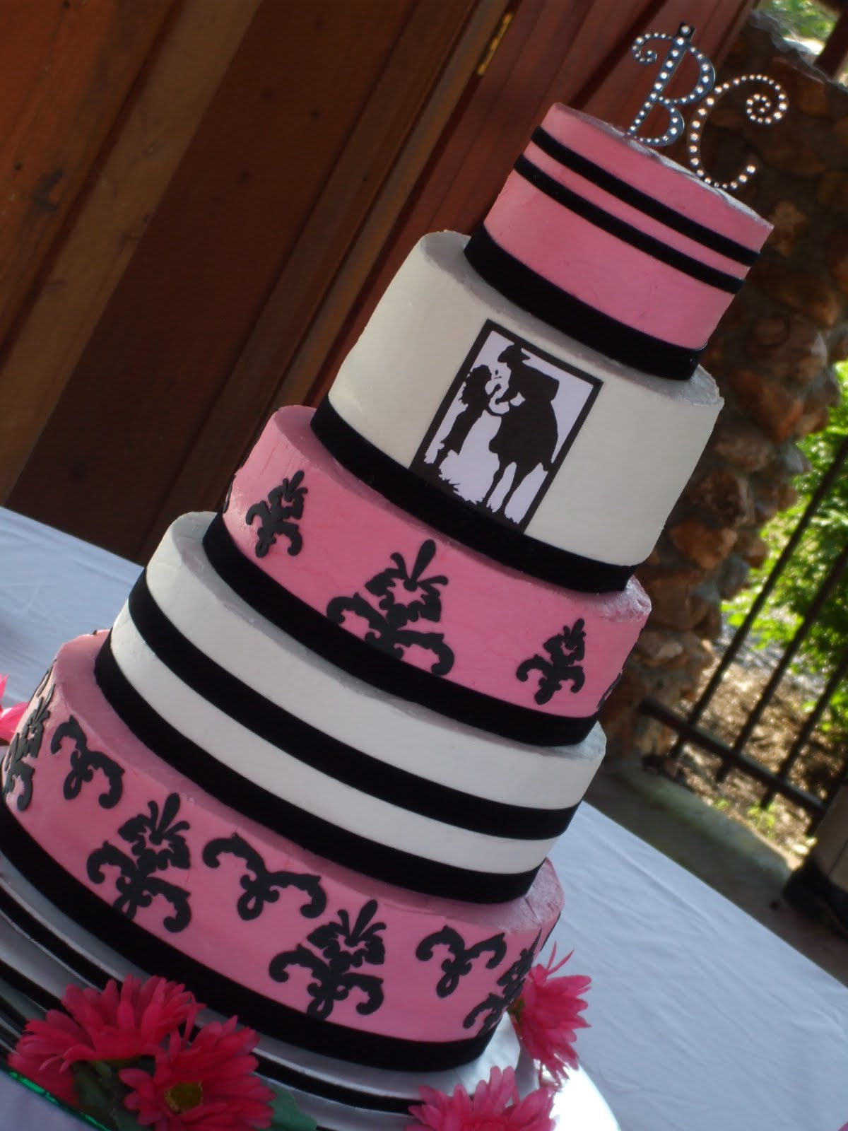 The Simple Cake: Pink & Black Western Theme Wedding Cake