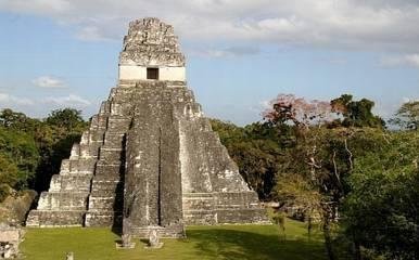 bekas kebesaran budaya suku maya