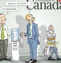 Pascal: Canadian scientists muzzled.