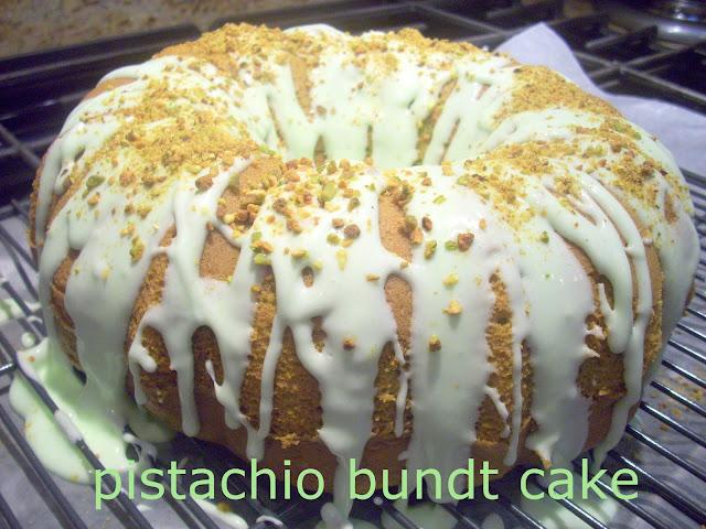 Flavors by Four: Pistachio Bundt Cake