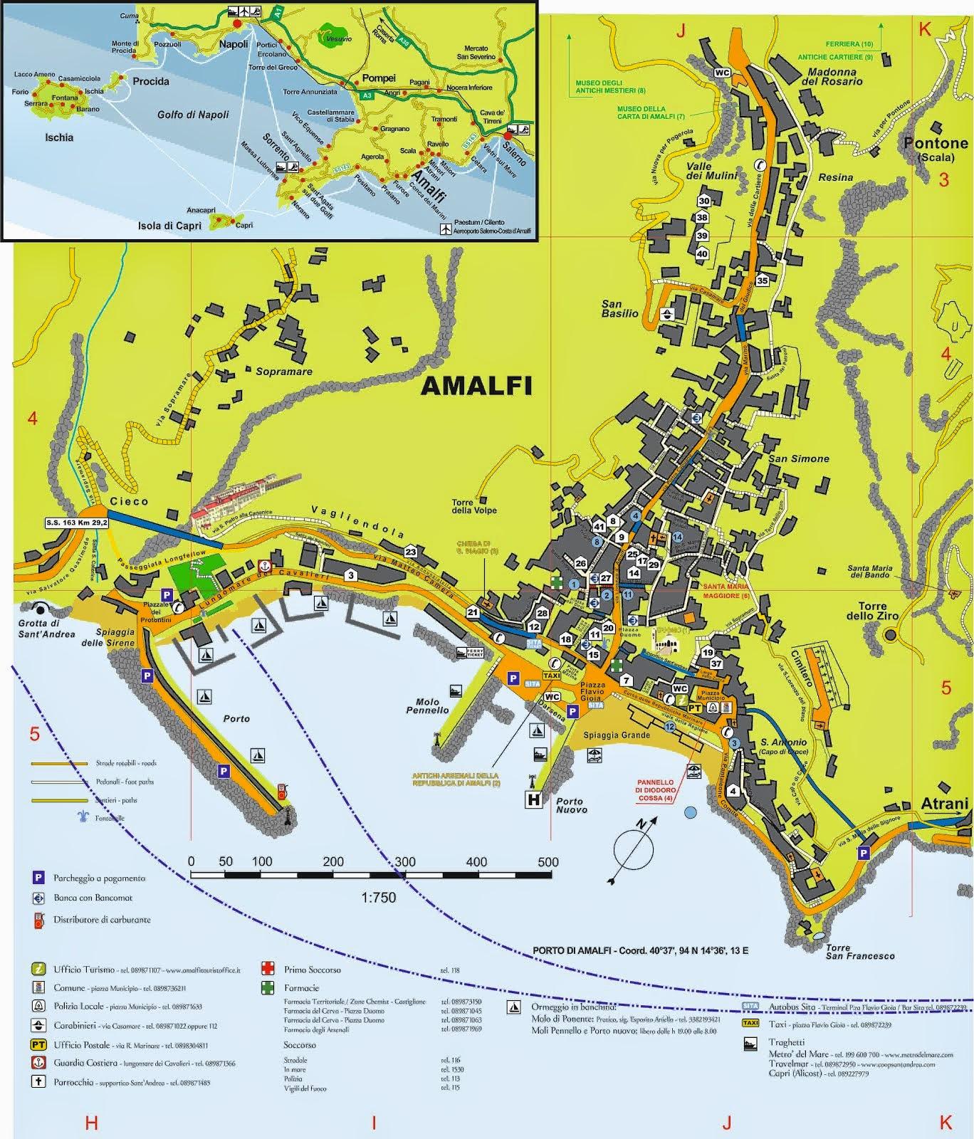 Mappa di Amalfi