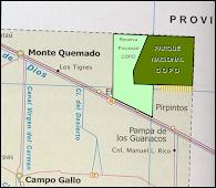 Mapa del Parque Copo
