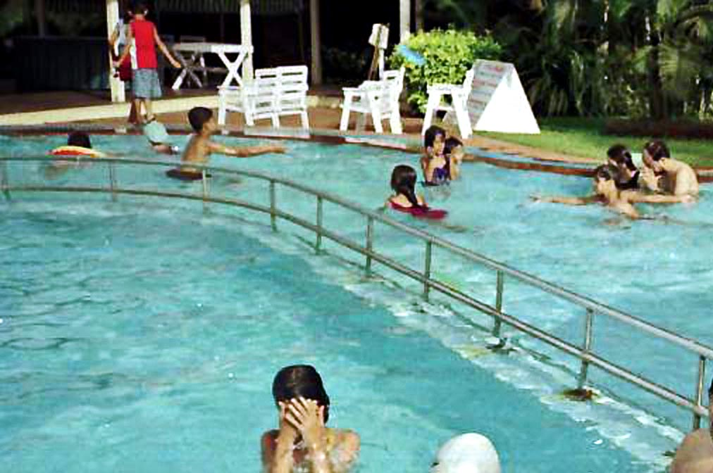 Hotel pool with people  Stock Pictures: Swimming pools and people swimming