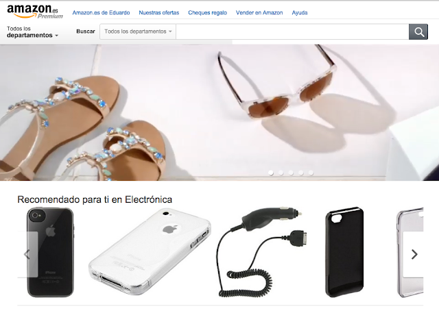Captura de la home de Amazon.es