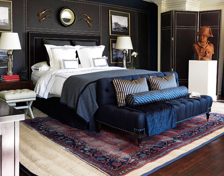 Mary McDonald Covered One Wall In This Bedroom In Ralph Lauren