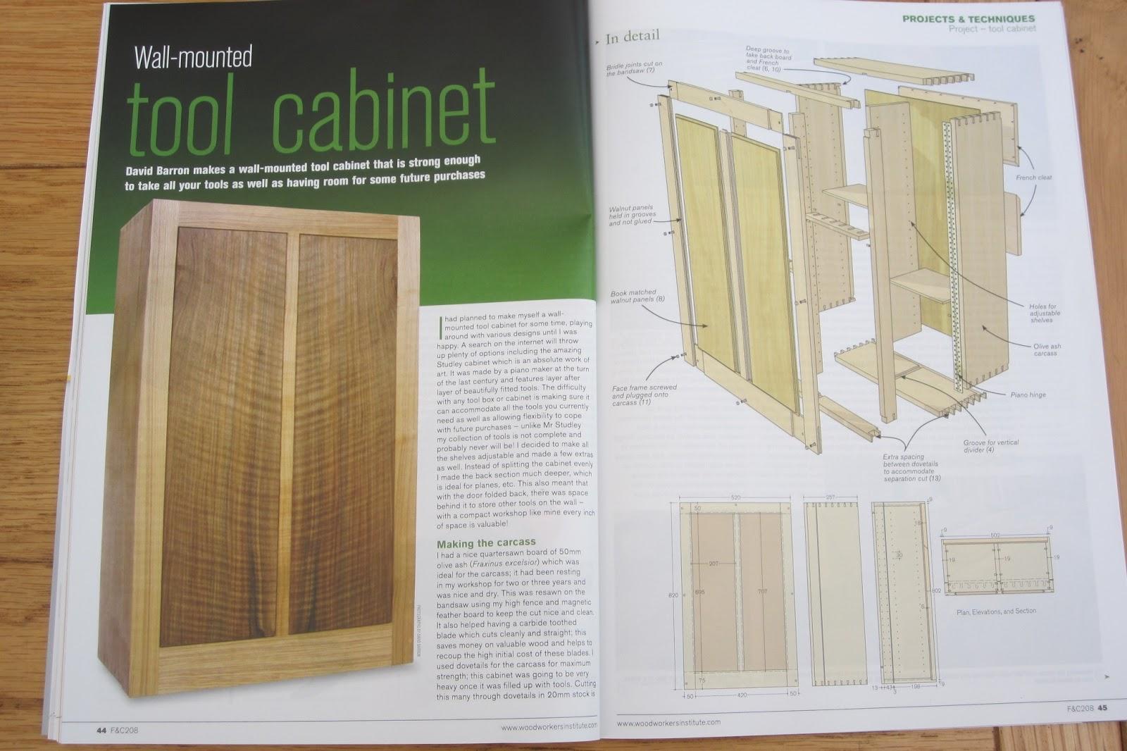 David Barron Furniture: Article on Making My Wall Mounted Tool Box ...