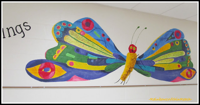photo of: Mural in Elementary School: Hungry Caterpillar