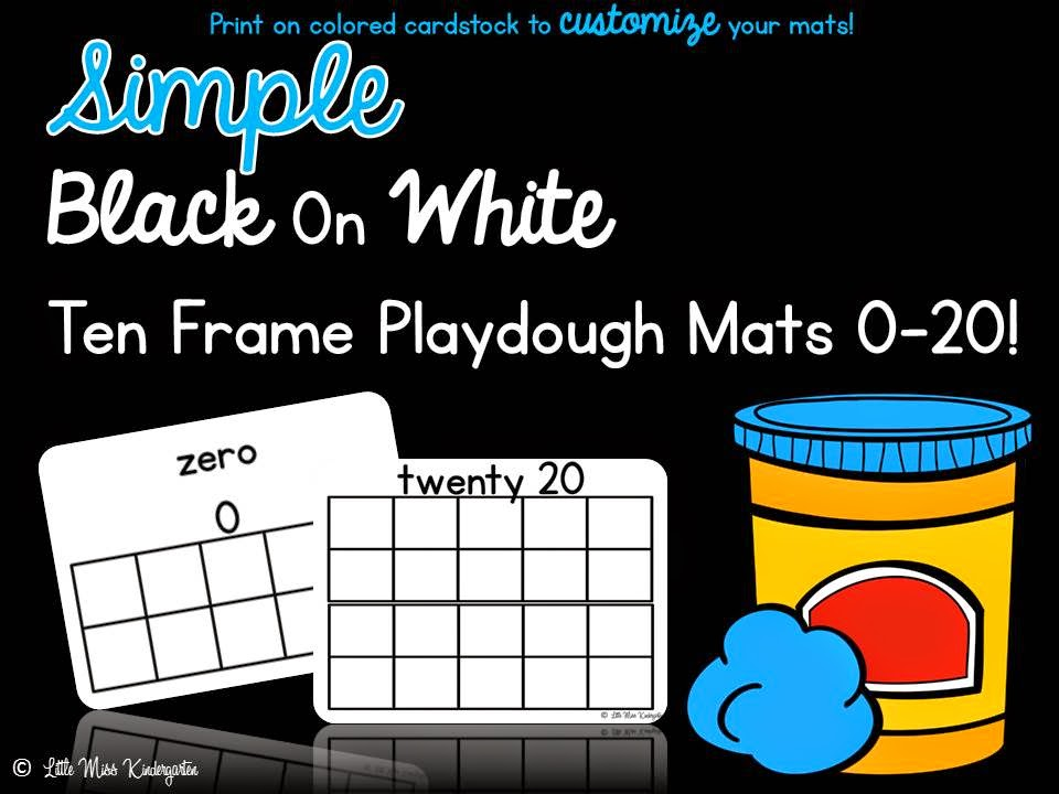 http://www.teacherspayteachers.com/Product/Ten-Frame-Playdough-Mats-125250