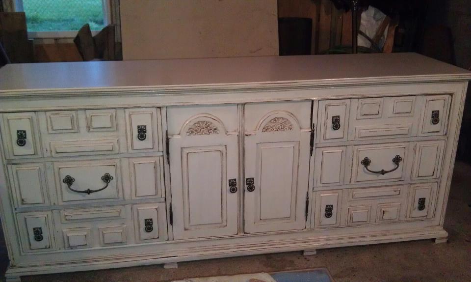 Savvy Susanne White Distressed Dresser