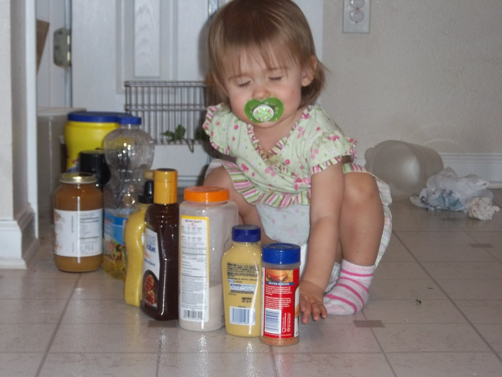 I Swear That This Child Loves To Take Things Out Of The Pantry And Line Them Up In Kitchen