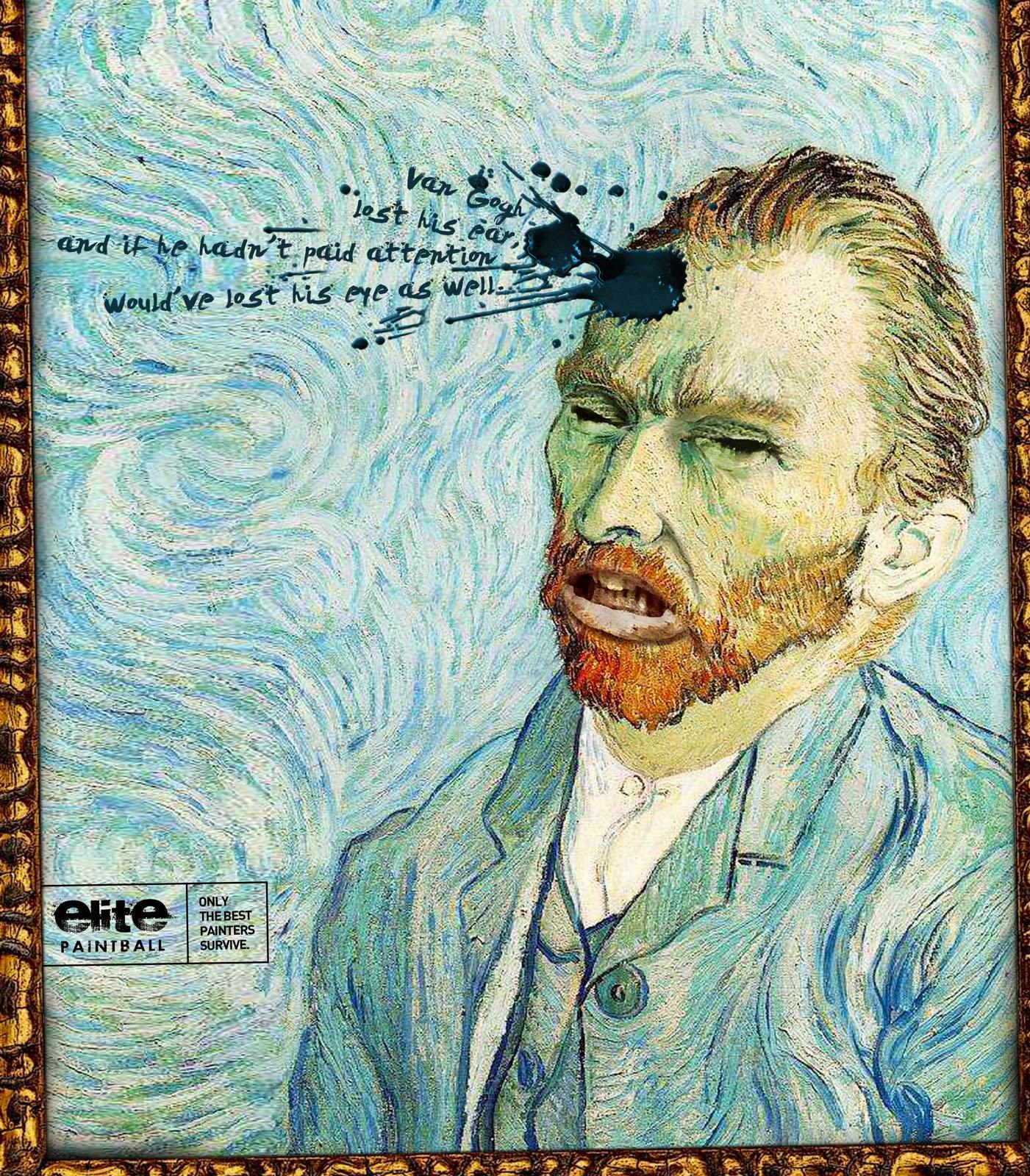Copyranter Van Gogh Severed Ear Portrait Ads Ranked