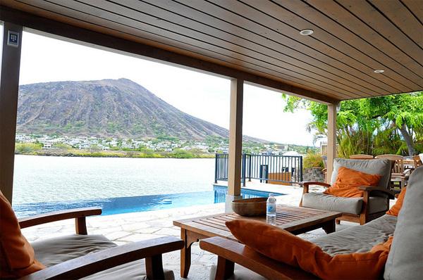 Strandhaus am meer  Die schönsten Strandhäuser: Strandhaus auf Hawaii mit Blick auf ...