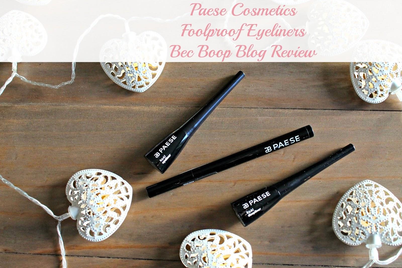 Paese cosmetics eyeliner blog review