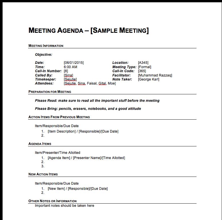 Similiar Business Meeting Agenda Ideas Keywords – Business Meeting Agenda