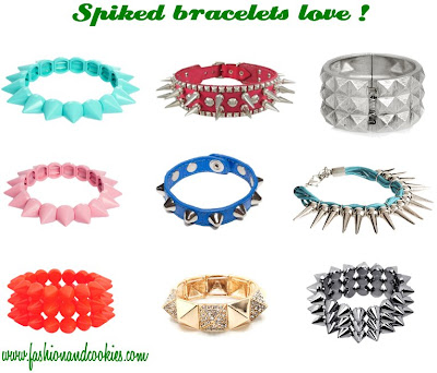 spiked bracelets collection