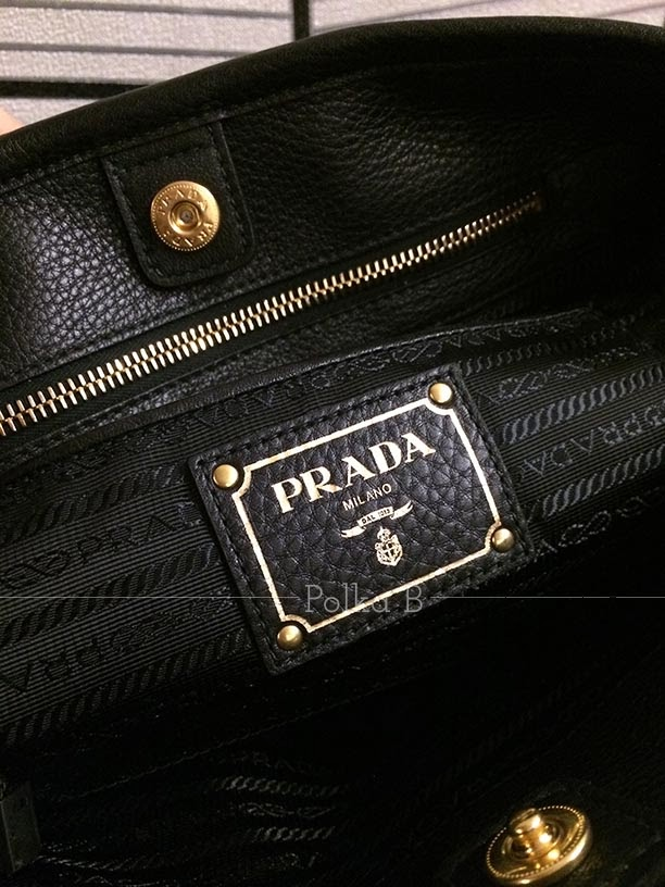 Prada Tessuto Vitello Daino Nylon Leather Satchel (BN1841) | Polka ...