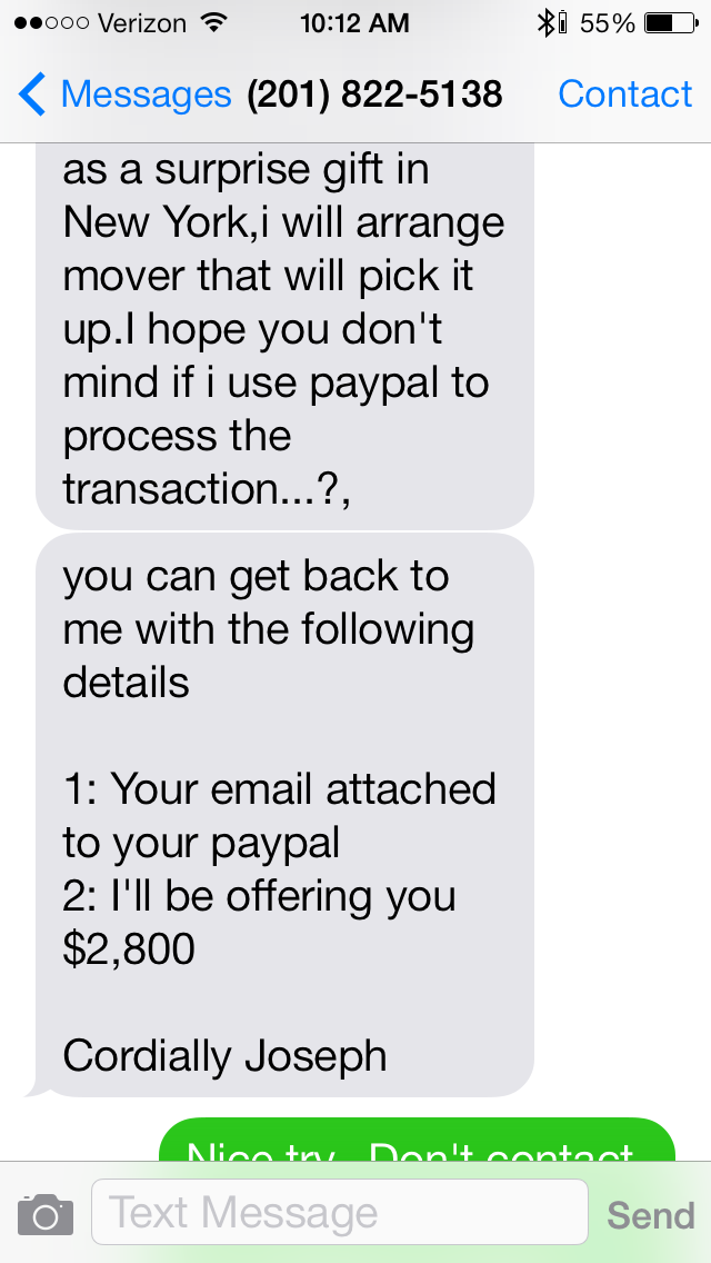 how to avoid paypal scams on craigslist