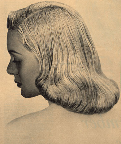 Pageboy Haircut 1950 Popular pageboy hairstyle.