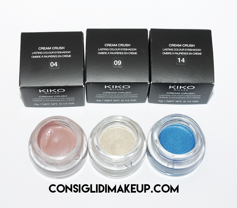 Review: Ombretti Cream Crush - Kiko Cosmetics