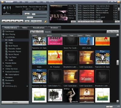 برنامج Winamp Pro 2014 تشغيل ملفات الصوت وملفات الفيديو
