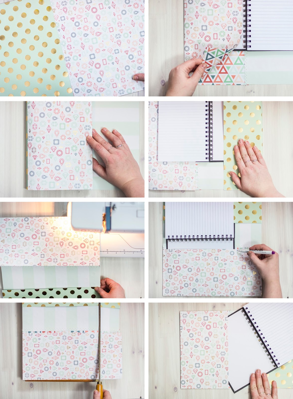 make it notepad cover and pen keeper