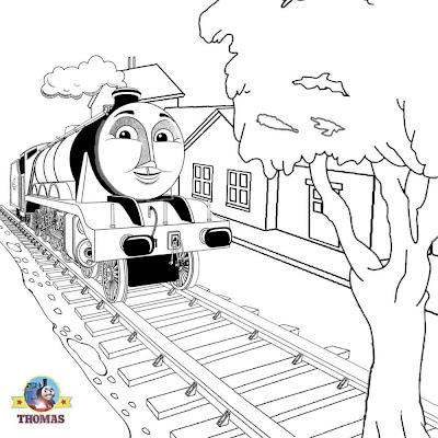 Boys activities railway station Thomas and friends Gordon the train coloring pictures for young man
