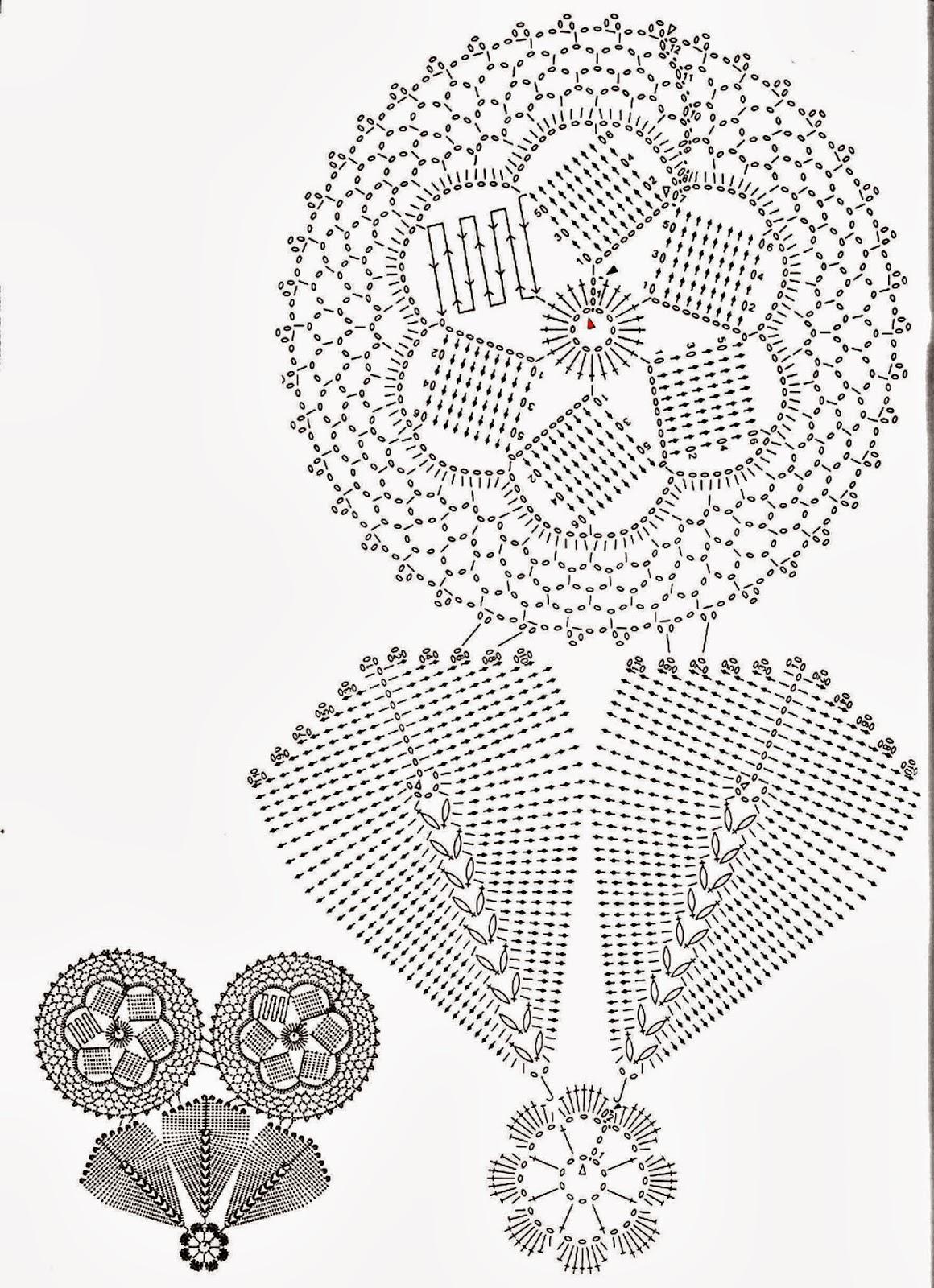 Uncinetto e crochet bellissimo e insolito centro tavola - Centro tavolo all uncinetto ...