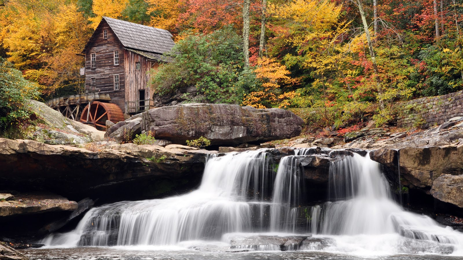 Autumn Mill Waterfall