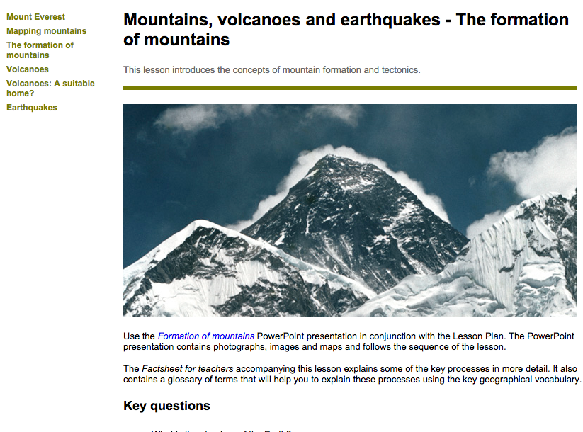 Look at it this way new ks2 resource on mountains there is a scheme of work with a series of fully resourced lessons aimed at thinking geographically about mountains gumiabroncs Image collections