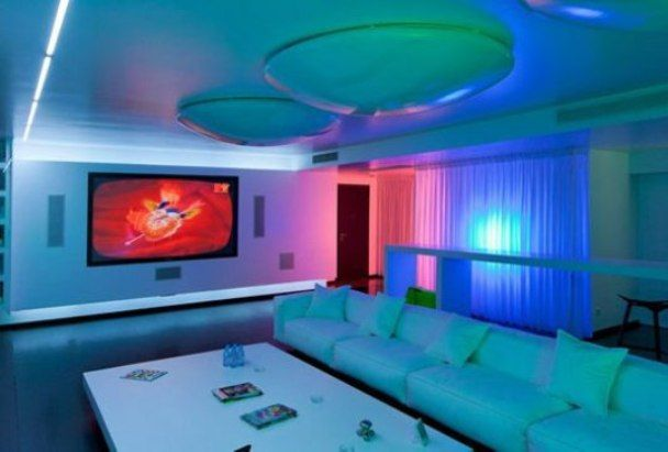Interior design home tips november 2012 Led lighting ideas for living room