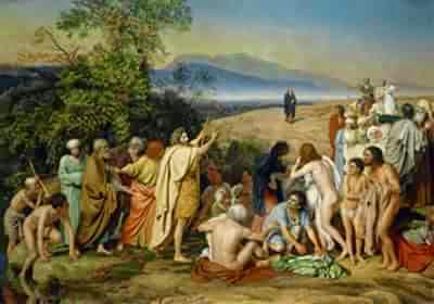 Иоанн Предтеча на реке Иордан